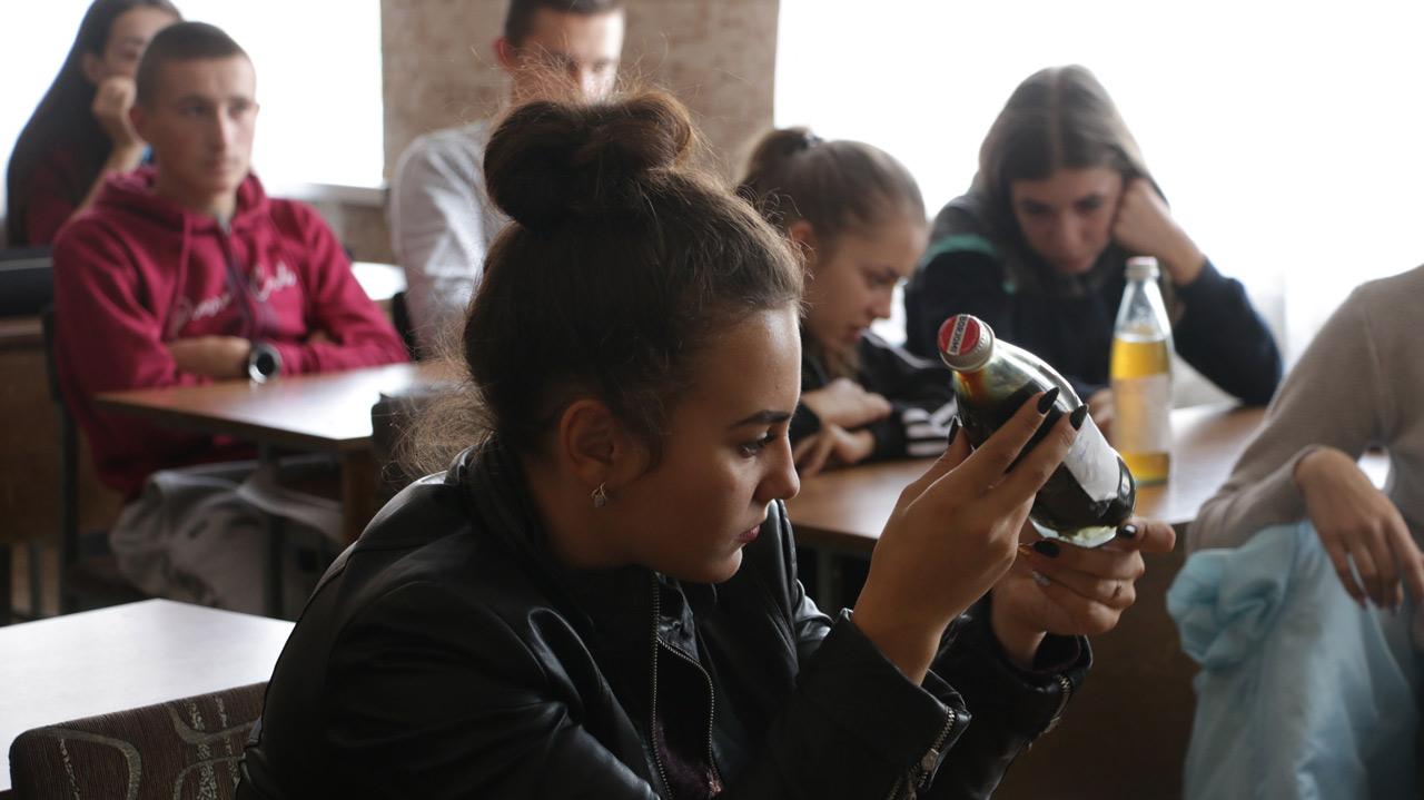 Під час лекцій у Полтавській ЗВО №22