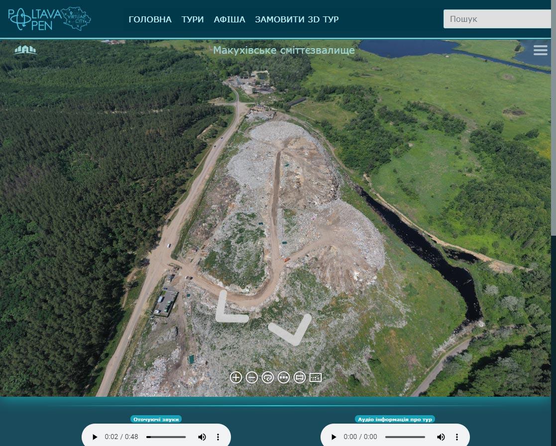 Панорама Макухівського сміттєзвалища