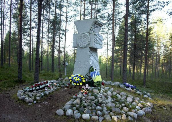 Хрест всім українцям,розстріляним капітаном Матвєєвим у Сандормосі