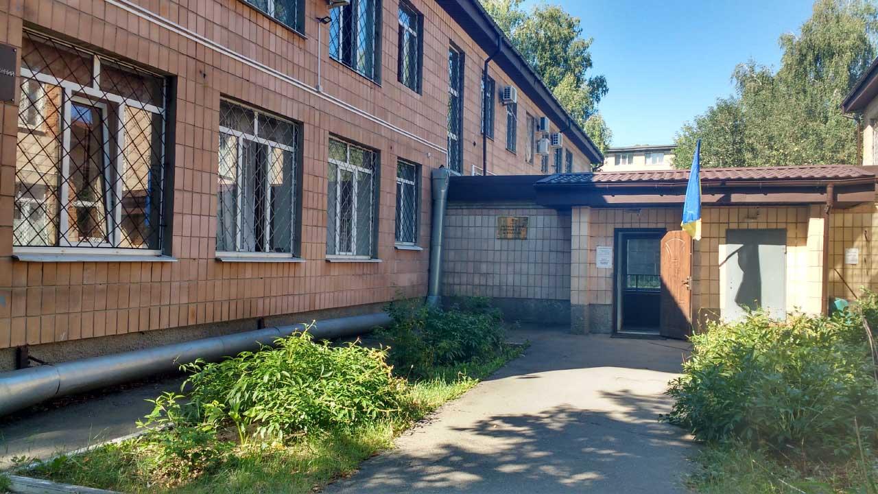 Будівля колишнього дитсадка — нині Октябрський районний суд Полтави