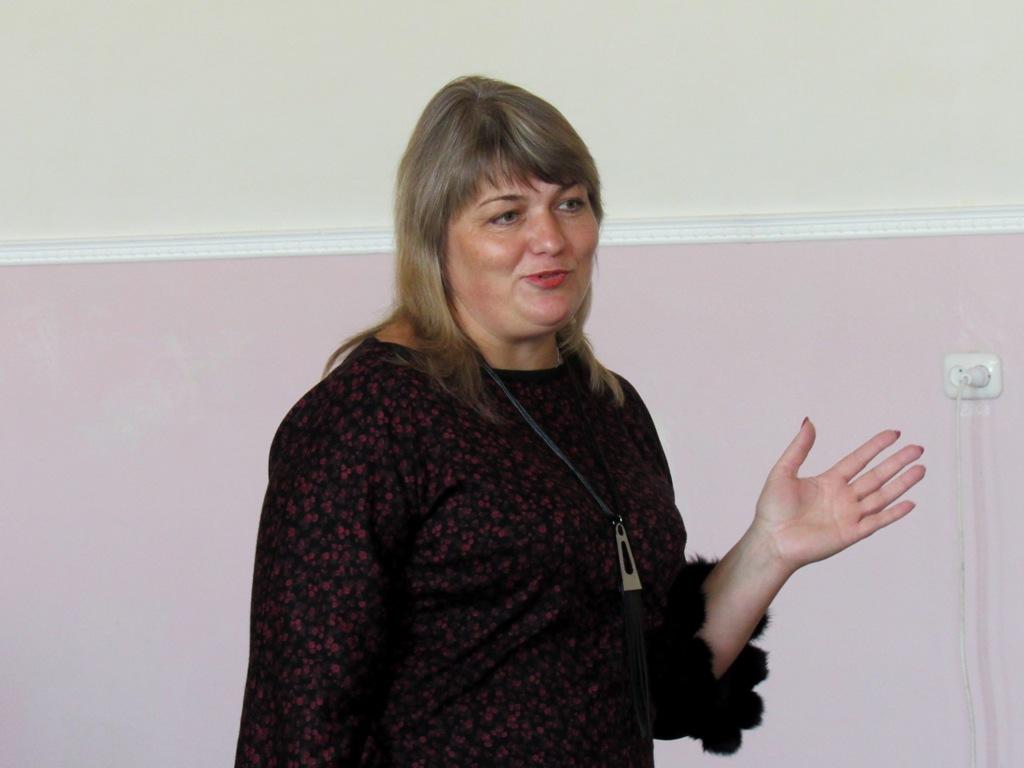 Промовляє заступник Директора Департаменту культури і туризму ОДА Ірина Удовиченко