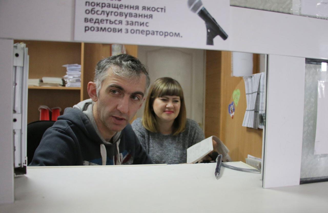 Журналіст Володимир Паршевлюк на прийомі у службі обліку та реалізації