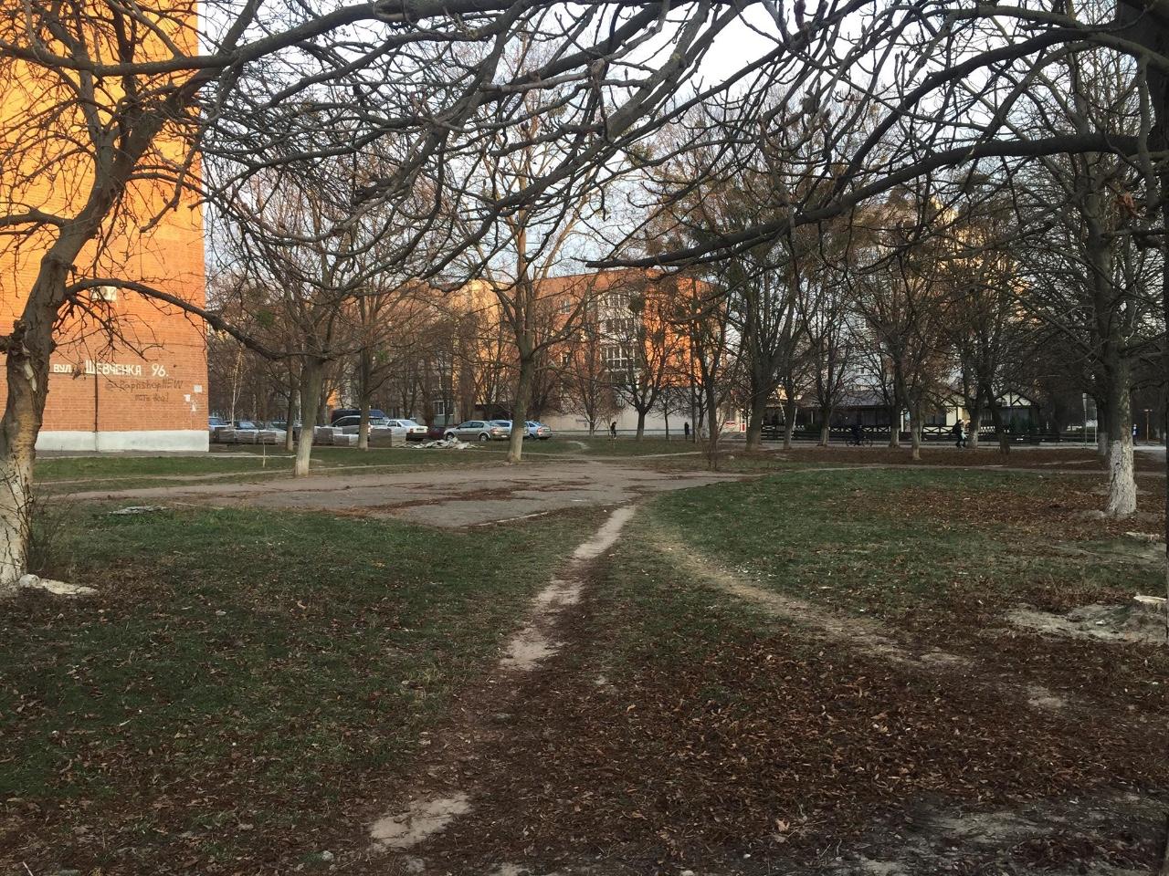 Дерев, тротуару не буде. Буде багатоповерхівка. І знову за 100 000 доларів хабаря.
