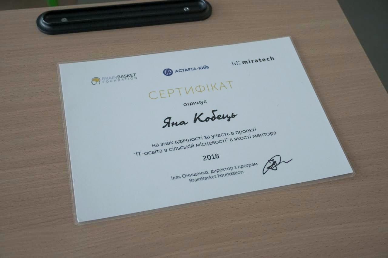 Сертифікат вчителя