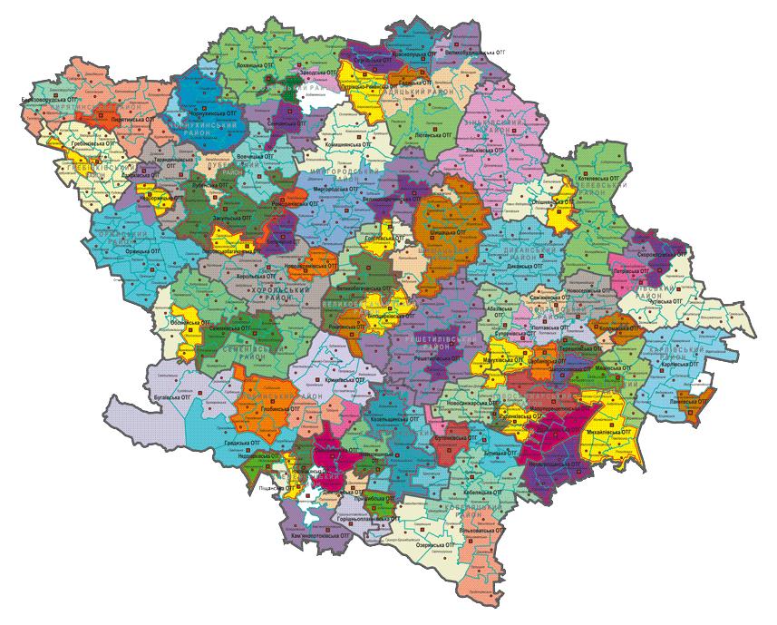 Перспективний план формування територій громад Полтавської області у версії від 17 вересня 2019 року