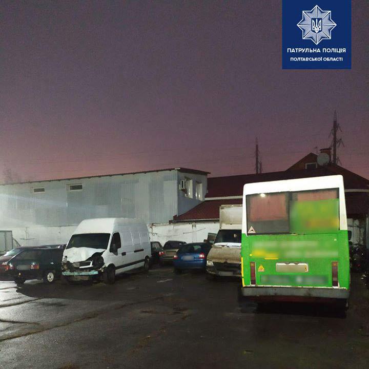 «Руту» було евакуйовано на майданчик тимчасового затримання транспортних засобів