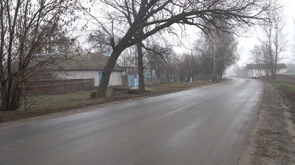 Відремонтована ділянка вулиці Капітана Печонкіна в селі Лютенька Гадяцького району