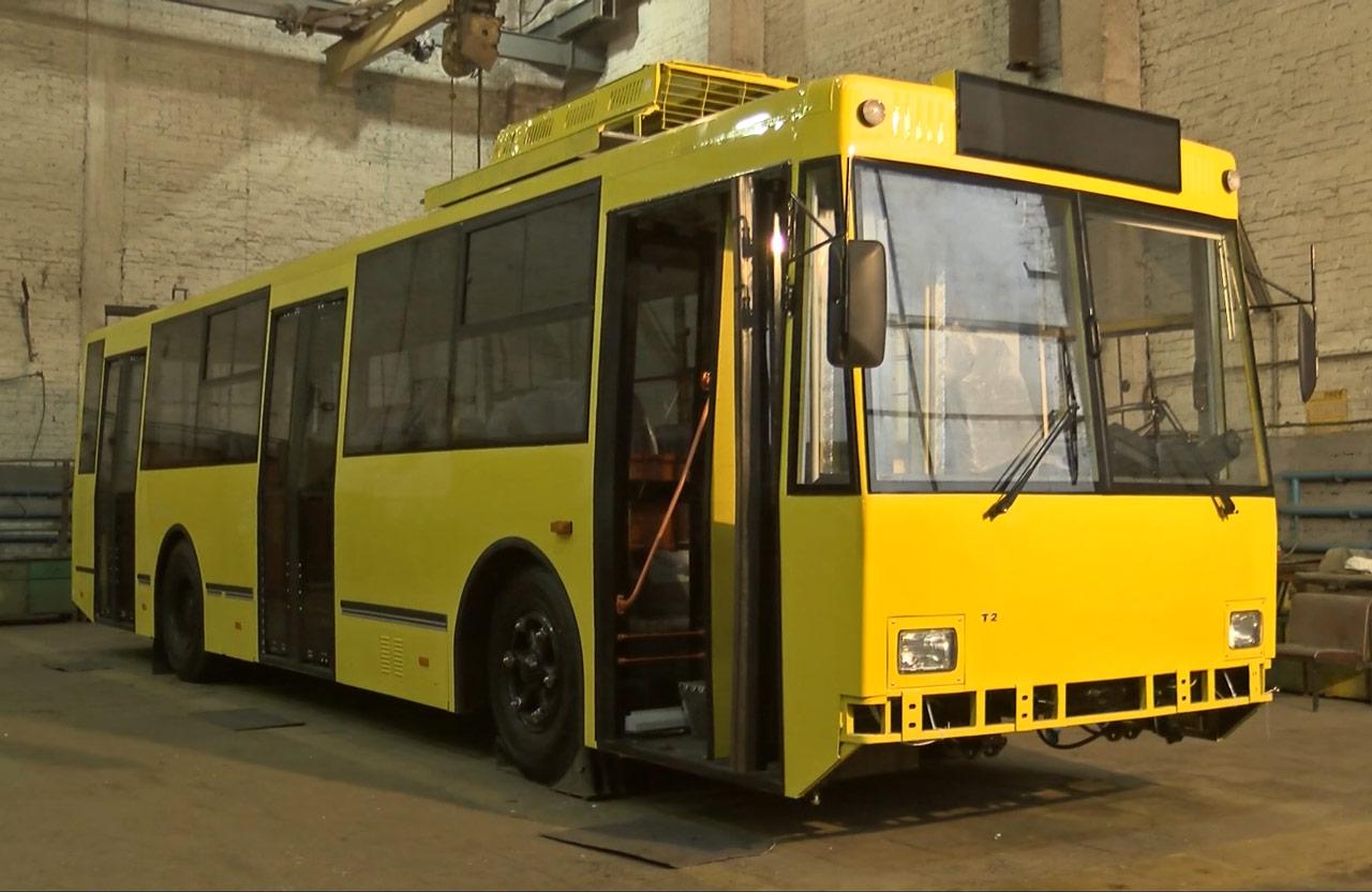 Переобладнаний зі «спарки» тролейбус № 65
