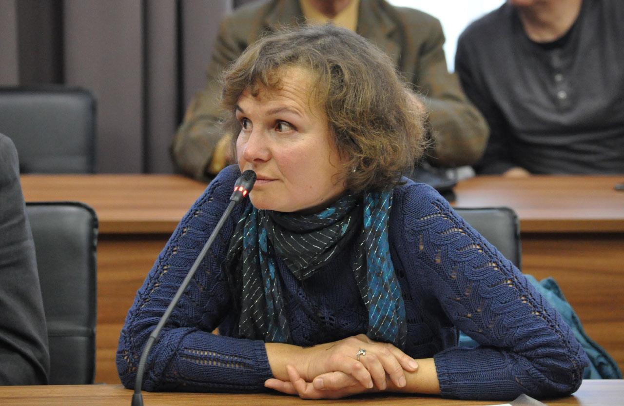 Юлія Петушинська на зустрічі з головою Полтавської ОДА у листопаді 2019 року