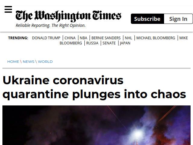 В Україні коронавірусний карантин перетворився на хаос | The Washington Times