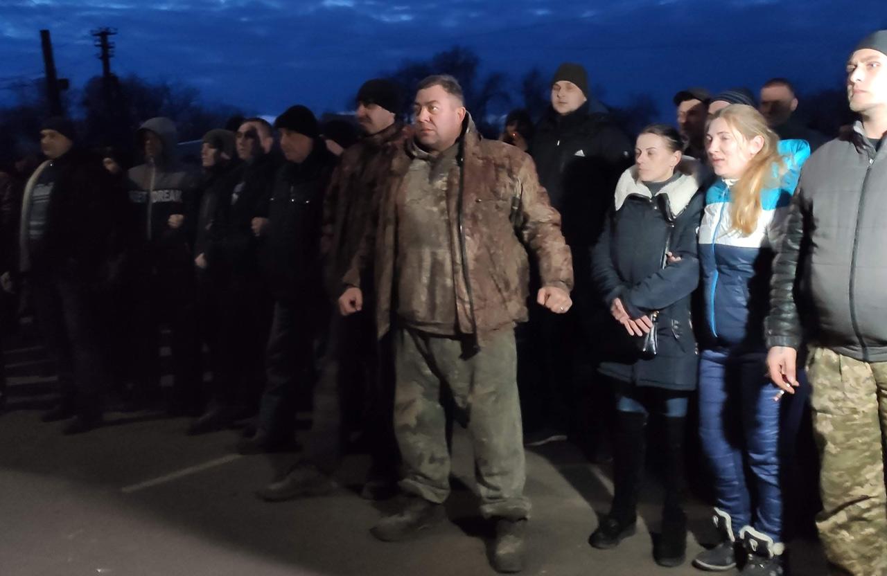 Володимир Сіренко на мітингу