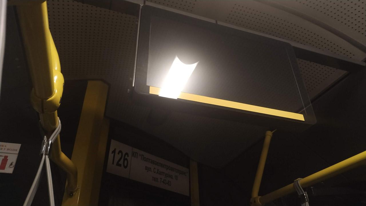 Монітор на тролейбусі «Богдан»