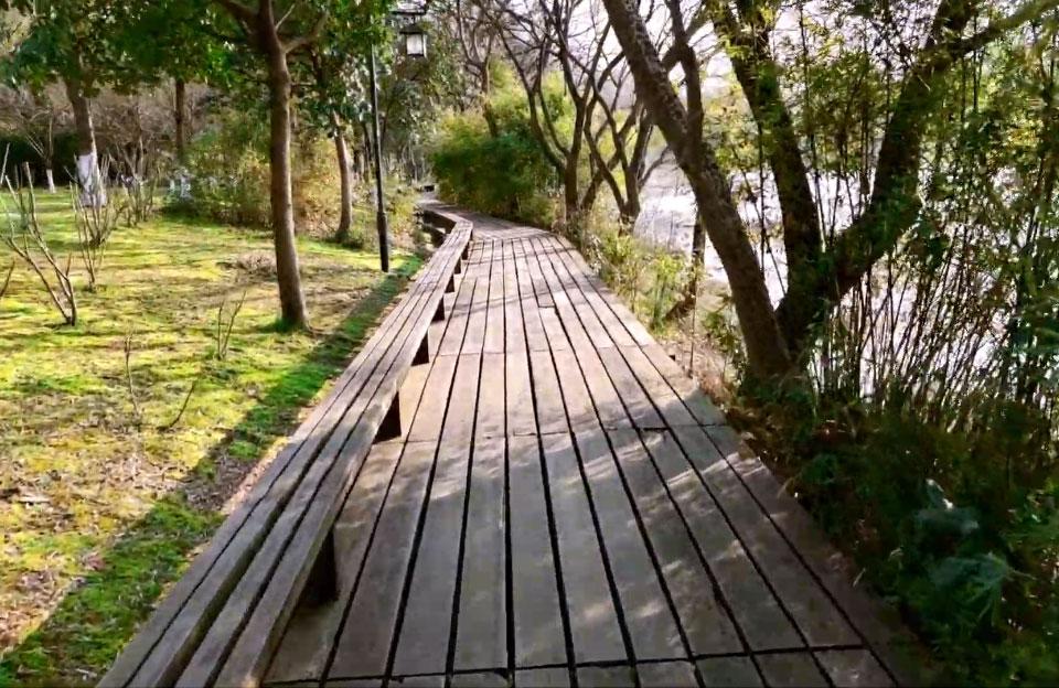 Парк біля озера Сіху у китайському місті Ханчжоу — приклад благоустрою великої зеленої зони