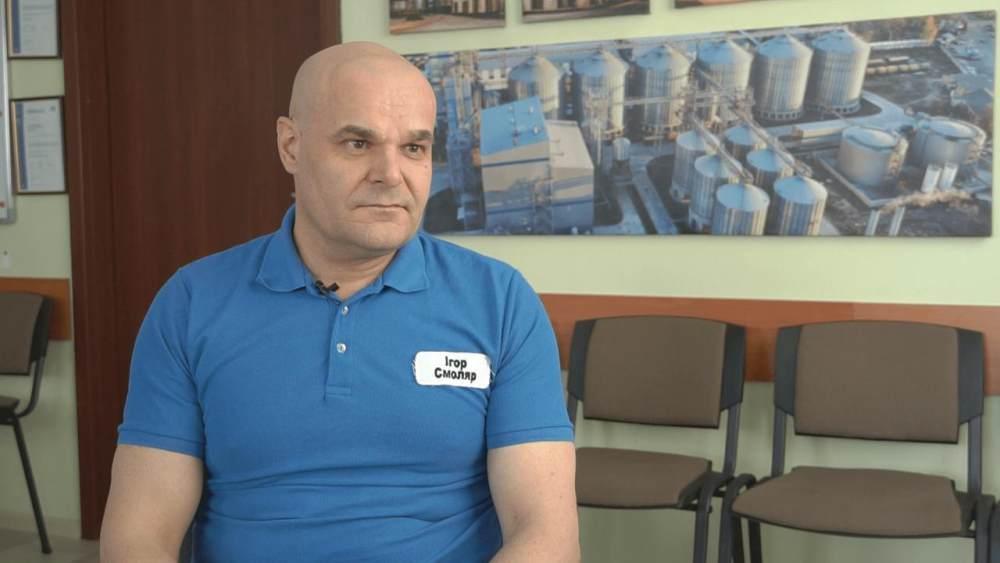 Начальник оліє-екстракційного виробництва Глобинського переробного заводу Ігор Смоляр
