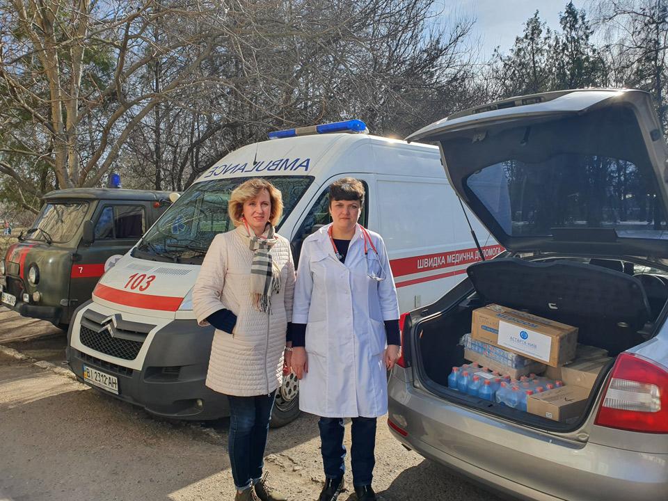 Допомога медикам від колективу Новооржицького цукрового заводу