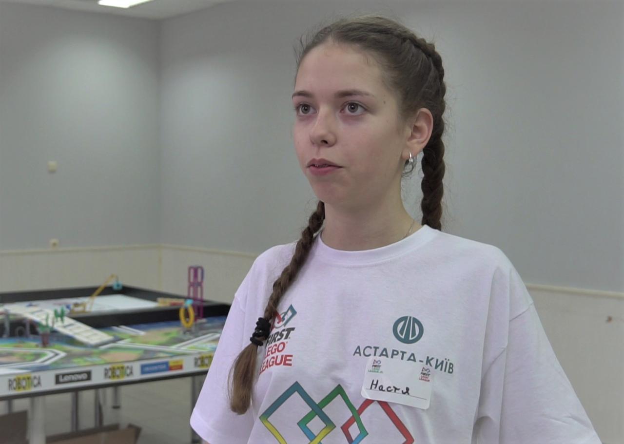 Учасниця команди Настя Федоряка