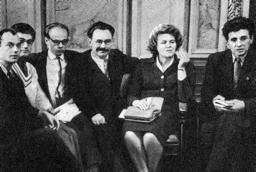 Ліна Костенко в колі поетів-шістдесятників