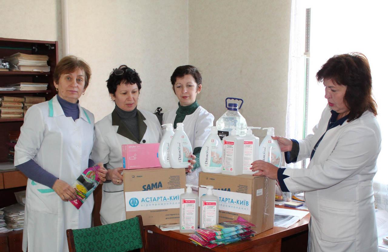 Яреськівський цукровий завод передав антисептики та засоби індивідуального захисту Яреськівській АЗПСМ
