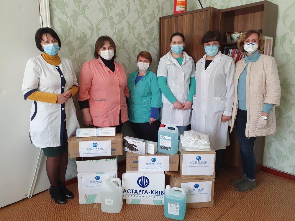 Допомога Оржицькій ЦРЛ від Новооржицького цукрового заводу