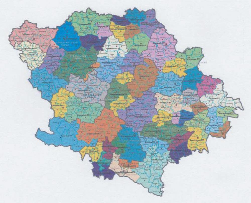 Графічний додаток до проекту Перспективного плану формування територій громад Полтавської області — карта у жахливій якості