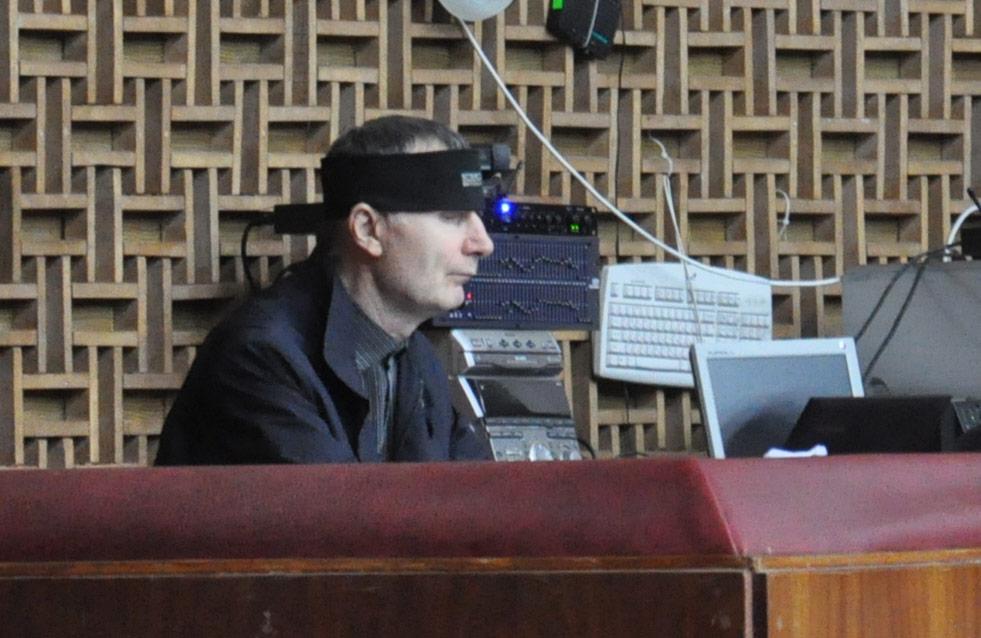 Юрій Лебедин на балконі зали засідань облради   Фото Миколи Лисогора