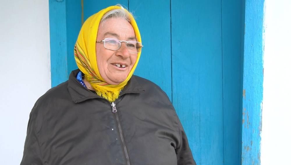 Мешканка села Нелюбівка Катерина Коркійко