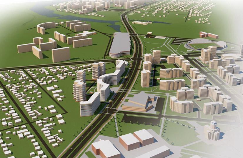Візуалізація проекту будівництва вулиці Лазурної