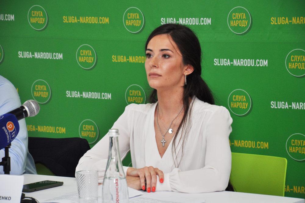 Ольга Савченко, голова Полтавської обласної організації партії «Слуга народу»