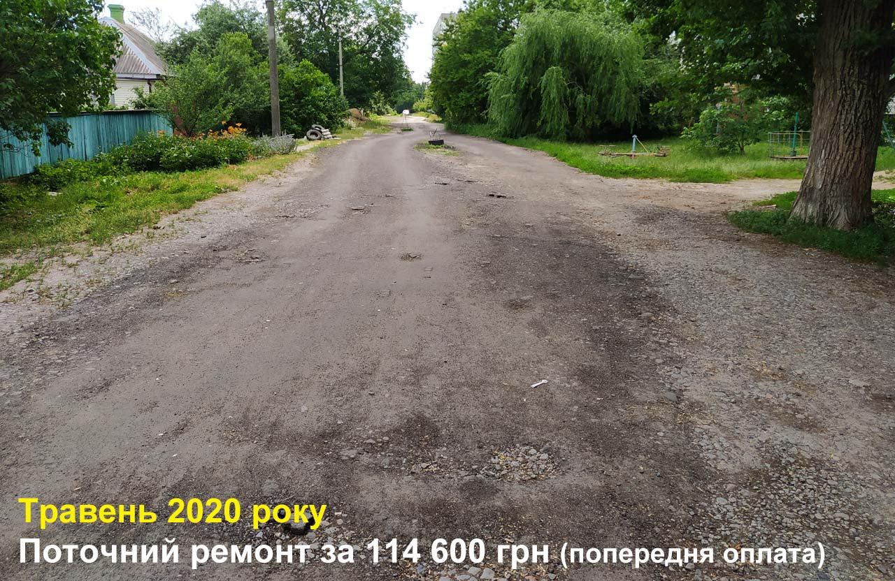 Поточний ремонт вул. Ракова у травні 2020 року