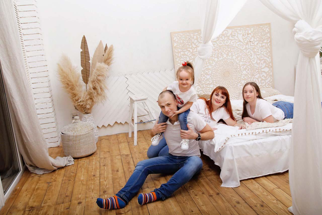 Олег Хардін з родиною