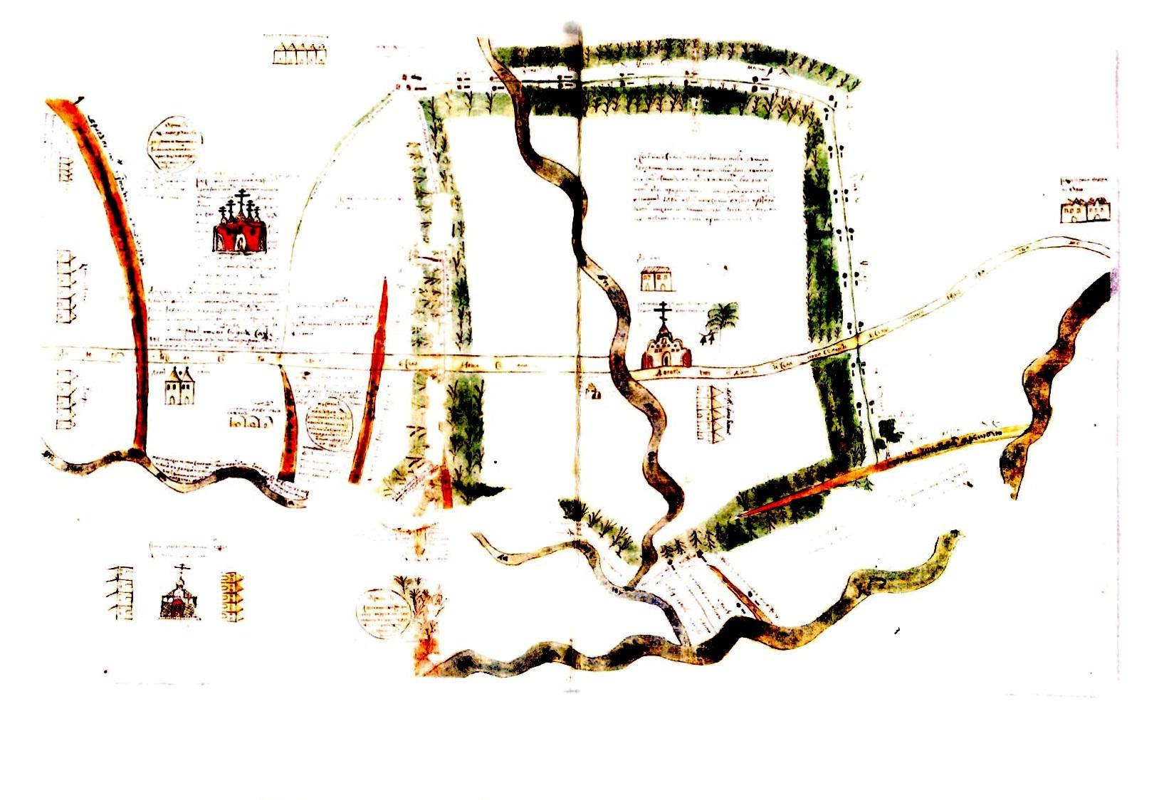 План одного з маєтків гетьмна І. Самойловича в с. Новосілки та суміжних земель. Серпень 1685 р.