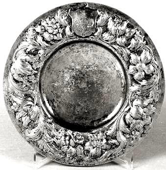 Срібна тарілка, що належала гетьману І. Самойловичу.