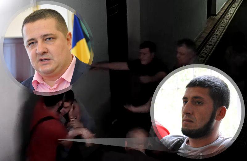 Мустафа Алоєв схопив за шию Андрія Ляміна