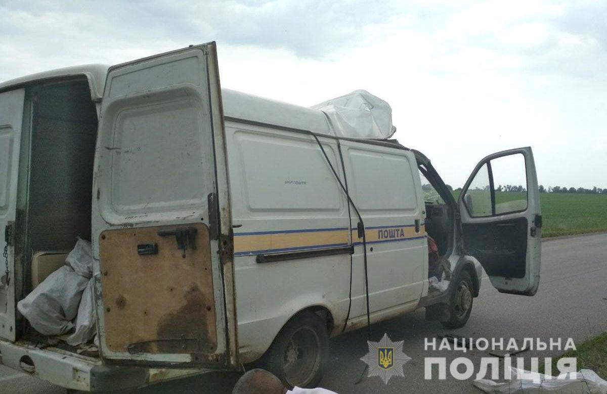 Грабіжники підірвали автомобіль Укрпошти