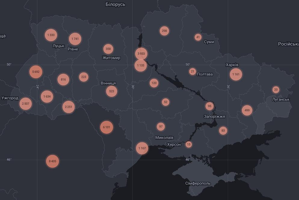 Кількість хворих на COVID-19 станом на 11 липня | Дані РНБО