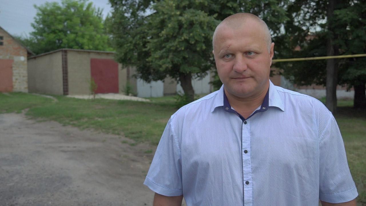 Мешканець села Божківське Віталій Скляр