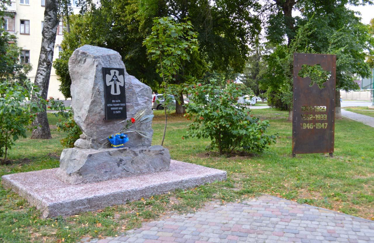 Тимчасові меморіальні знаки пам'яті жертв Голодоморів