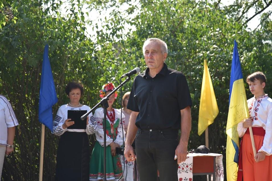 Ініціатор спорудження пам'ятного знаку Олександр Калашник