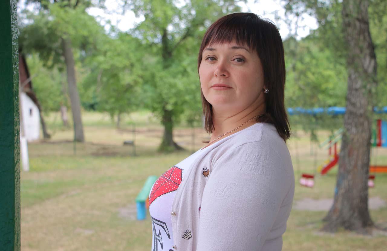 Жителька Степанівки Анна Мирошниченко