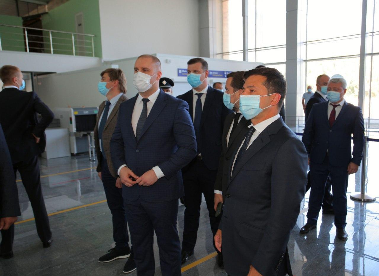 Володимир Зеленський у міжнародному аеропорту «Полтава»
