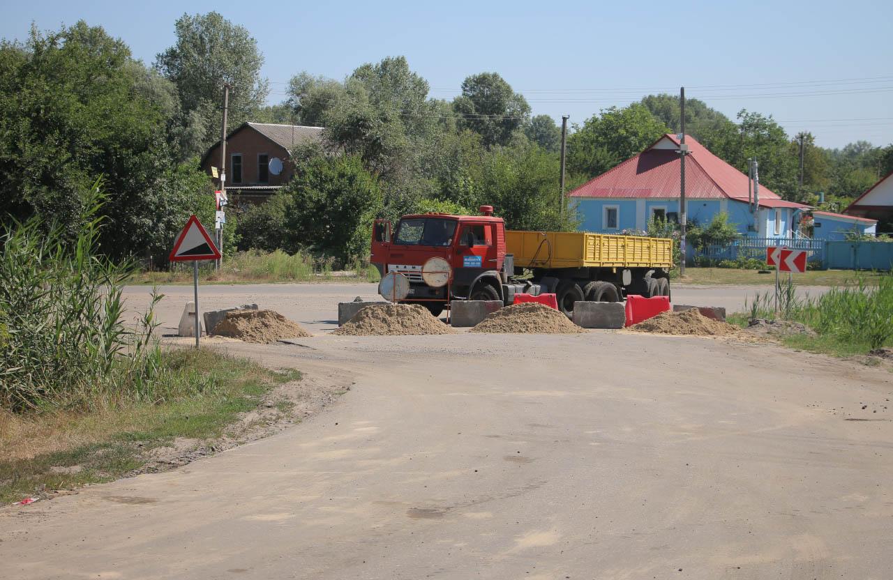 Ремонт автотраси Полтава-Сем'янівка-Надержинщина
