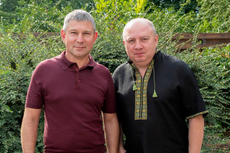 Юрій Шаповалов та голова Полтавської РДА Ігор Карімов