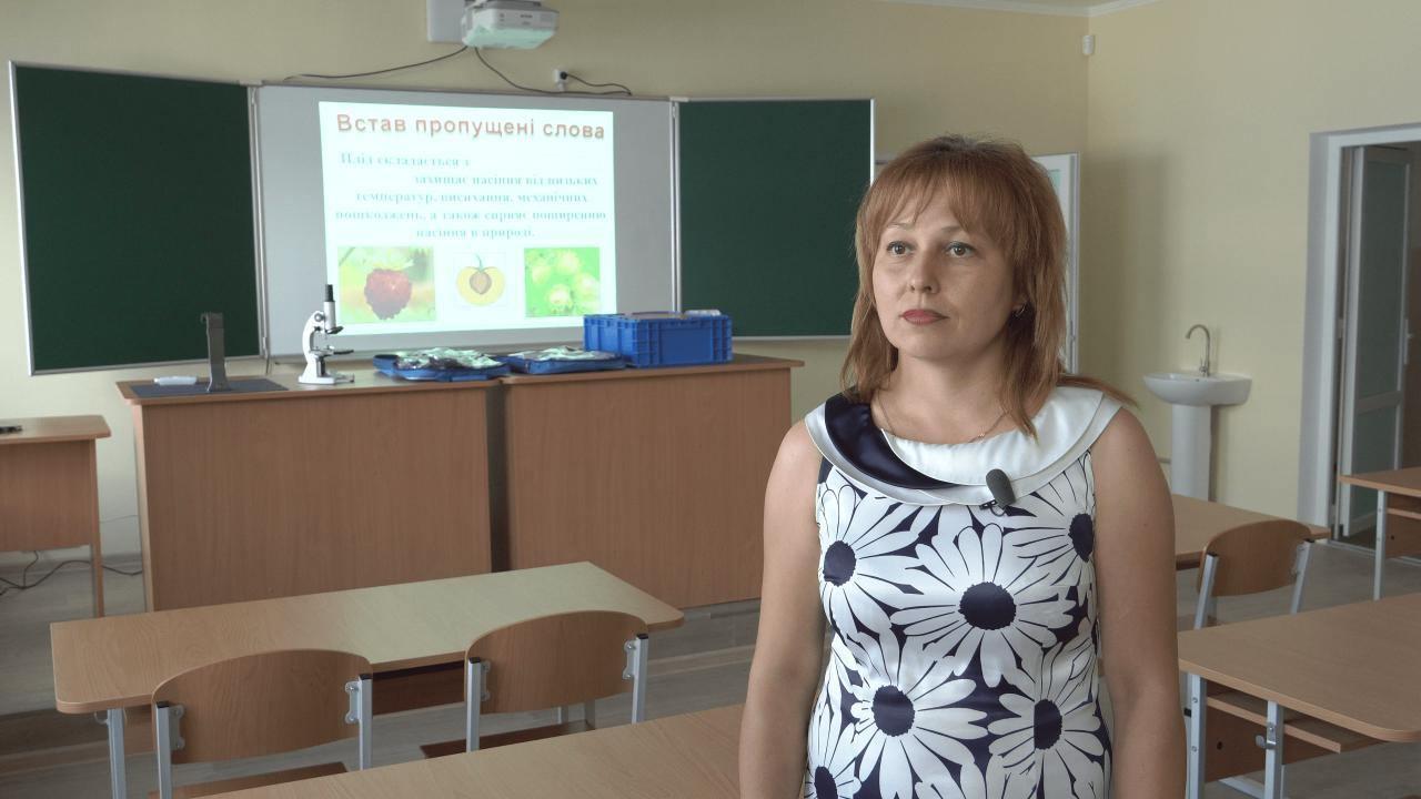 Вчителька хімії та біології Розсошенської гімназії Юлія Рощак