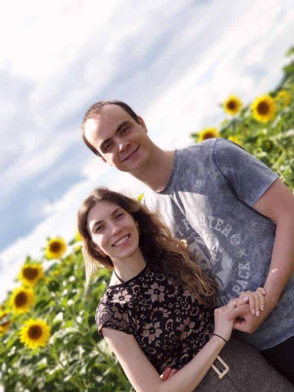 Стипендіат фонду «Повір у себе» Євгеній Коротич з дружиною Веронікою
