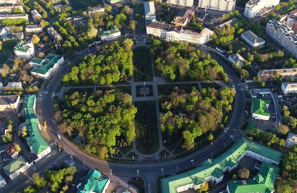 Парк «Корпусний сад» у центрі Полтави