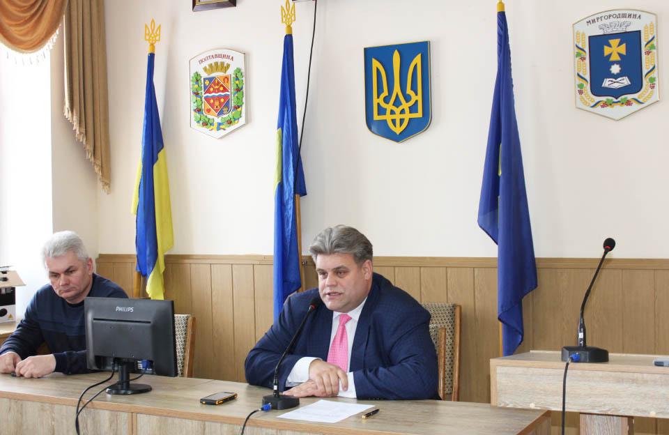 Юрій Коваленко під час роботи головою Миргородської РДА