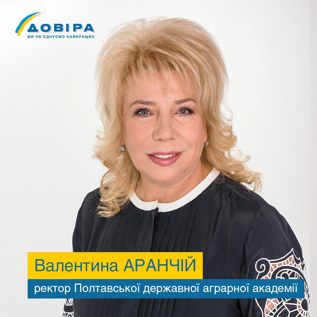 Ректорка Аграрної академії Валентина Аранчій