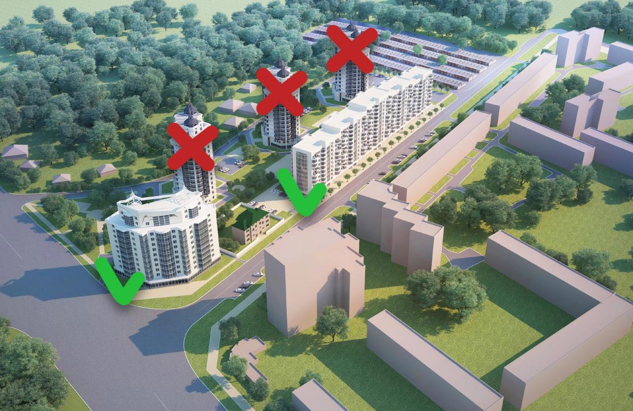 Затверджені до будівництва багатоповерхівки на Половках