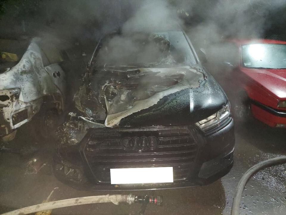 Згоріла Audi Q7