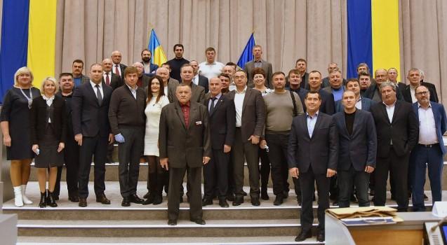 На фото: всі присутні під час голосування в залі депутати (41 особа), фото з сайту обласної ради